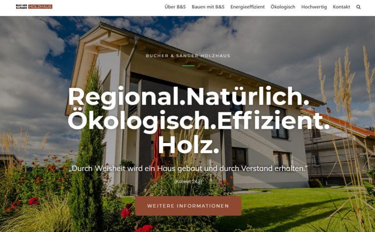 Bucher & Sänger Holzhaus - Webseite