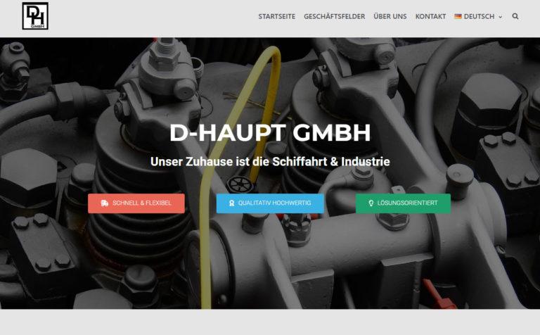 D-Haupt GmbH - Webseite