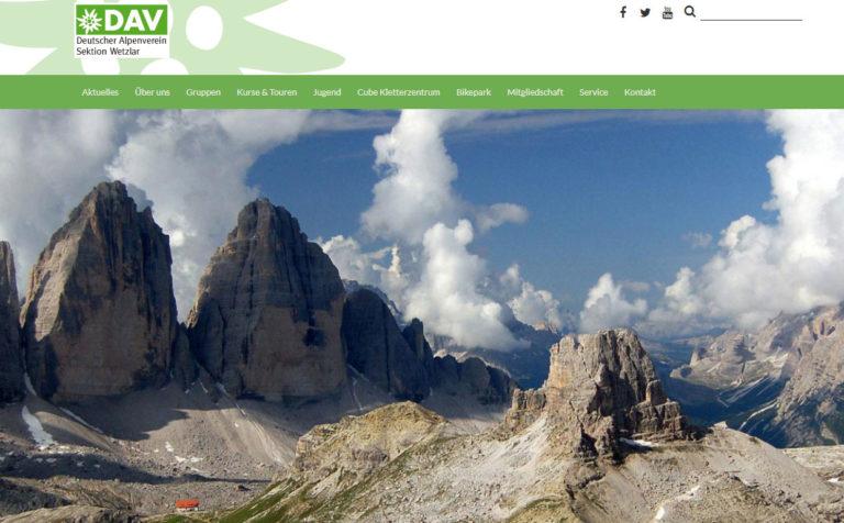 DAV Wetzlar - Wartung der Webseite