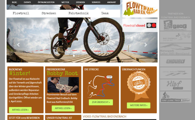 Flowtrail Bad Endbach - Wartung der Webseite