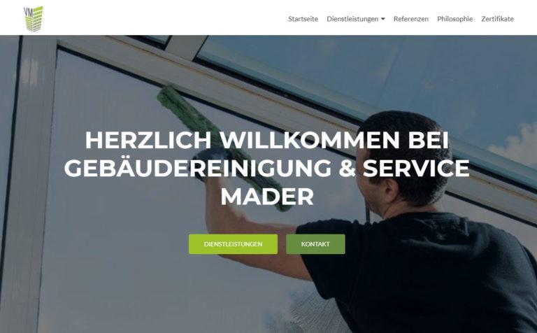 Mader Gebäudeservice - Hosting & Wartung