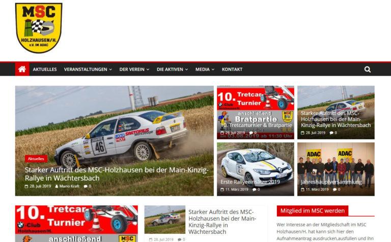MSC Holzhausen - Wartung der Webseite