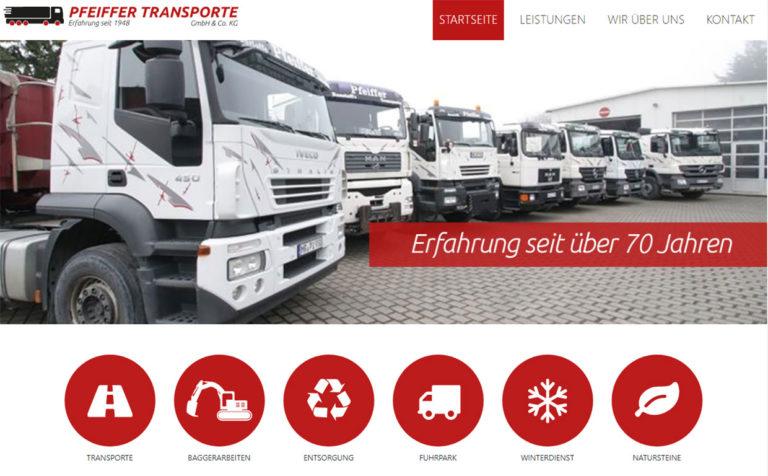 Pfeiffer Transporte - Webseite