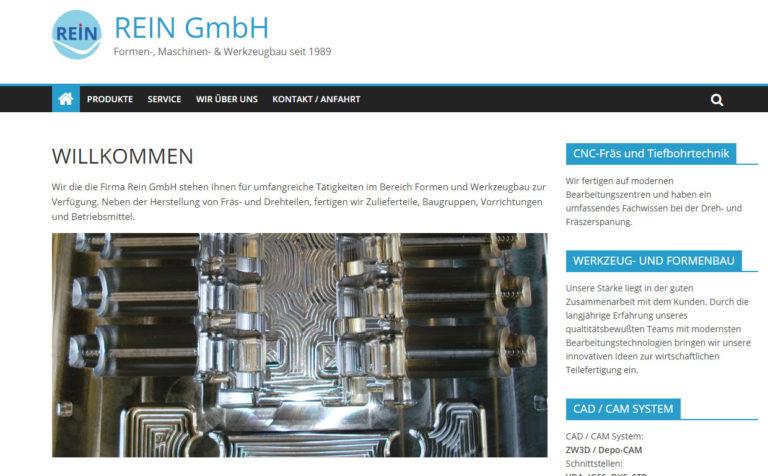 Rein GmbH - Wartung der Webseite