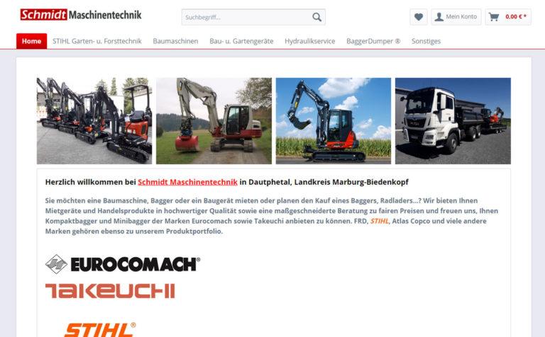 Maschinetechnik Schmidt - Shopverwaltung