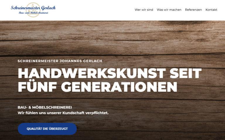 Schreinermeister Gerlach - Webseite